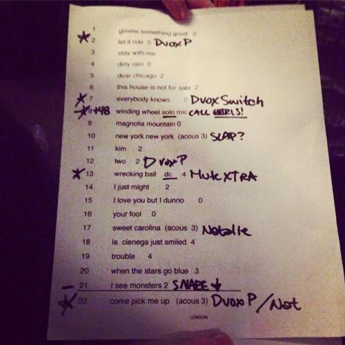 RyanAdams_set_list